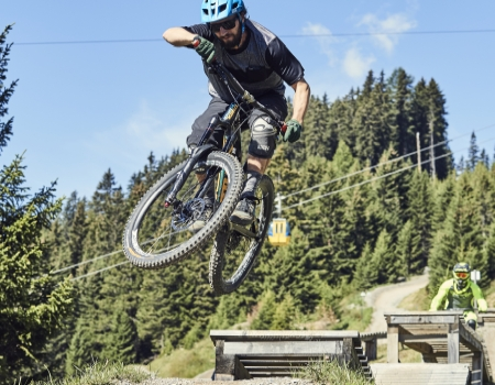 sommer mountainbikeurlaub in fiss downhill